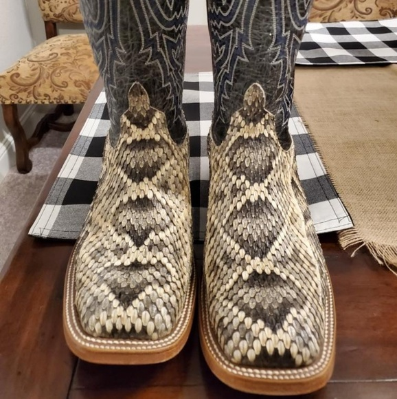 On Clearance good 2019 professional ANDERSON BEAN rattlesnake boots